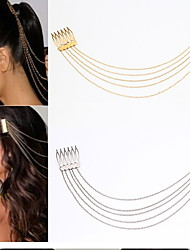 Korean Fashion Alloy Long Tassel Chain Hair Comb in Party