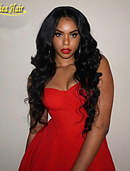 Deep Wave Hair Wig Real Human Hair Top Quality Length 10 To 32 Inch Natural Color Deep Wave Front Lace Wig