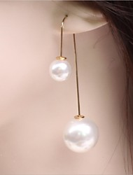 Earring Drop Earrings Jewelry Women Wedding / Party / Daily / Casual Alloy / Imitation Pearl 1set