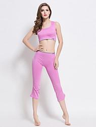 Yoga Sets de Prendas/Trajes Pantalones + Tops Sin costura / Suave Eslático Ropa deportiva Mujer - Otros Yoga