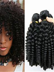 3шт / много нигерийский тетушка Фунми роман локон волос человека 100% расширений бразильский девственные волосы Фунми