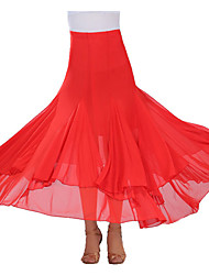 Ballroom Dance Tutus & Skirts Women's Performance Crepe Draped 1 Piece Skirt
