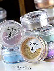 1 Paleta de Sombras de Ojos Brillo Paleta de sombra de ojos Polvo Normal Maquillaje de Diario / Maquillaje de Hada / Maquillaje de Fiesta