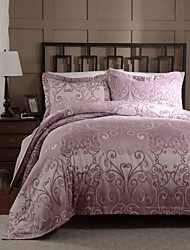 Simple Opulence Duvet Cover Set Microfiber luxury Printed Rose Red Include Quilt Cover Pillow Cases Queen King