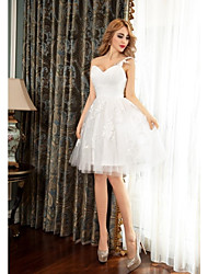 Cocktail Party Dress - Ivory Ball Gown One Shoulder Short/Mini Tulle