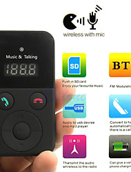 Car Kit Handsfree Bluetooth Wireless FM Transmitter USB SD LCD Remote MP3 with Mic