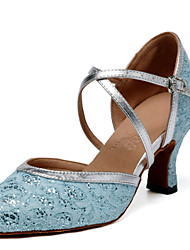 Non Customizable Women's Dance Shoes Latin / Jazz / Modern / Swing Shoes / Salsa / Flamenco / SambaLeatherette / Lace