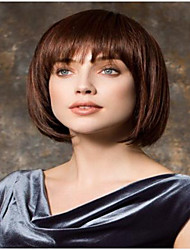 venta caliente marrón peluca bob corto syntheic extensiones de primera calidad