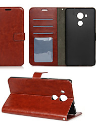 For Huawei Case / Mate 8 Wallet / Card Holder / with Stand / Flip Case Full Body Case Solid Color Hard PU Leather Huawei Huawei Mate 8