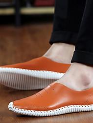 Sapatos Masculinos Mocassins Marrom / Verde / Branco Couro Casual