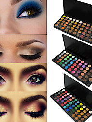 55 Colors Lidschattenpalette Matt / Schimmer Lidschatten-Palette Puder Set Smokey Makeup / Party Make-up / Halloween Make-up