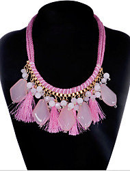 MPL  European and American fashion folk style Gemstone Pendant Necklace