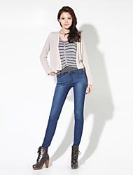 Pantalon Aux femmes Décontracté / Simple / Vacances Coton