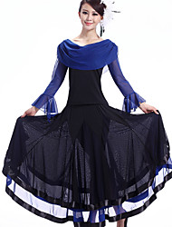Robes ( Fuchsia / Rouge / Bleu Royal , Crêpe / Fibre de Lait , Danse moderne ) Danse moderne - pour Femme