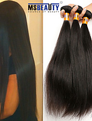 """3 unidades / lote 8 """"-22"""" cabelo humano virgem indiano 8a extensões de cabelo retas não transformados tece"""