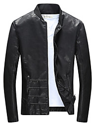 Qiu dong season men leisure leather coat tide male locomotive fur male youth jacket of cultivate one's morality