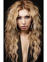 Long Length Curly Hair European Weave Light Blonde Hair Wig