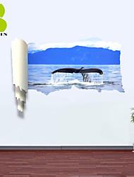 "Animais / Romance / Paisagem Wall Stickers Autocolantes 3D para Parede , PVCL:85cmX127cmX0.3cm(33.5""X50.0""X0.1"");M:"