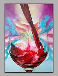 Картина маслом, ручной росписи, натюрморт с вином
