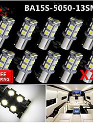 10x super luminoso ba15s blancos dirección trasero 1156 coche señal luminosa 13 LED 12V SMD