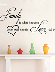 AWOO® Family Wall Sticker DIY Home Decorations Quotes Vinyl Wall Decals Wall Mural Art