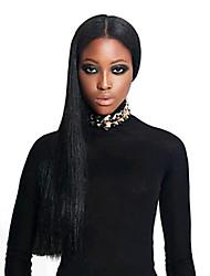 femmes brésiliennes couleur de cheveux vierges (brun # 1 # 1b # 2 # 4) avant perruques droite
