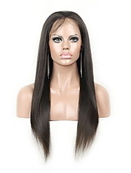 "Unprocess 8""-24"" Yaki Straight Brazilian human hair Full Lace Wigs"