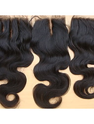 7A Closure Brazilian Virgin Hair Body Wave Free Part /Middle Part/3 Part Unprocessed Human Hair Weave Closures