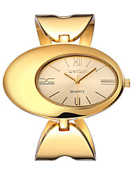 WEIQIN ® Women's Bracelet Watches Personality Oval Dial Dress Wristwatch for Ladies Fashion Luxury Quartz-watch Girls Cool Watches Unique Watches