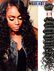 """1 pc / lot 12 """"-28"""" 8a peruanisches reines Haar tiefe Welle Menschenhaareinschlagfäden 100% unverarbeitetes peruanisches remy Haar spinnt"""