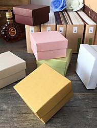 Boîtes Cadeaux ( Ivoire / Or / Chocolat / Vert / Rose / Blanc , Papier nacre ) Thème classique - pourMariage / Commémoration / Fête