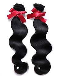 Brazilian Virgin Hair Body Wave Hair Weaving 2pcs/lot 1B Color 100% Brazilian Human Hair Weaving Top Grade