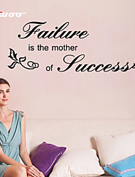 AWOO® Failure Is The Mother Of Success Wall Sticker DIY Home Decorations Quotes Vinyl Wall Decals Wall Mural Art