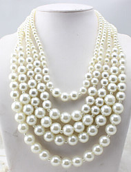 New Arrival Fashion Jewelry Sweet Fresh Multilayer Pearl Necklace