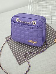 KAiLiGULA  Mini Satin lattice Shoulder Messenger dual chain bag