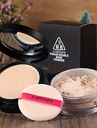 3GS Whitening Soft Makeup Loose Powder Finishing Powder Concealer 10g+12g 1Pc (with Puff)