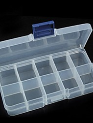 10 Grids Transparent Stylish Jewelry Organizer for Jewelry Drugs