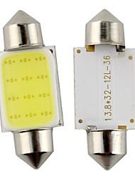 2pcs feston 36mm 3W 240lm 6000k LED COB lumière blanche pour ampoule voiture de direction / liseuse (DC12V)
