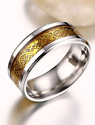 Band Rings Stainless Steel Steel Fashion Gold Silver Golden Jewelry Party 1pc