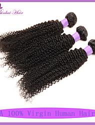 cabelo virgem 3pcs cacheados profundas brasileiras não transformados monte brasileira encaracolado Kinky tecer cabelo virgem