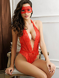 Women Lace Lingerie Ultra Sexy Teddy Nightwear Solid Lace Red Black
