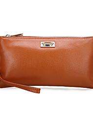 Schoudertas / Avondtasje / Muntenportemonnee / Polstasje / Mobile Phone Bag - Blauw / Bruin / Zwart / Bordeaux - Schelp - Koeienhuid -