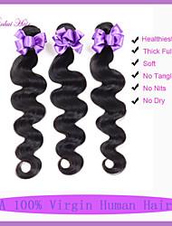3pcs 7a / lote virgem onda cabelo corpo não transformados pacotes de tecer cabelo humano peruano malaio onda do corpo da Malásia