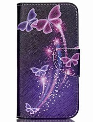 Colored Butterflies Painted PU Phone Case for Wiko Rainbow Jam 4G