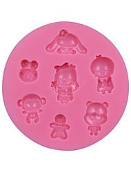 Cartoon Children Silicone Cake Molds Cake Decorating Tool Gumpaste Mould Chocolate Decor Mold Sugar Candy Mold SM-043