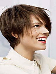Popular  Brown Color Beautiful Short  Syntheic  Wig