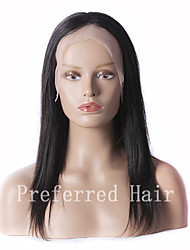 New Arrival 100% Unprocessed BrazilianHuman Hair 12-28Inch Silky Straight Natural Black Full Lace Wig