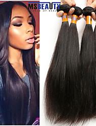 """4 unidades / lote 8 """"-22"""" cabelo malaio 8a cabelo virgem reta humano tramas 100% Mechas malaio não transformados tece"""