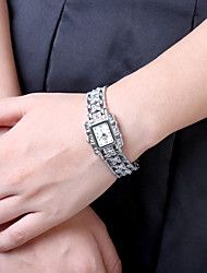 Women's Fashion Watch Quartz Stainless Steel Band Charm Black White