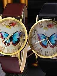 Leisure Style Business Water Leather women watch clock butterfly Cool Watches Unique Watches Fashion Watch